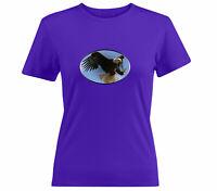 Eagle flying bird sky animal Cool gift t Shirt Tee Girls Juniors Women T-Shirt