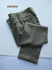 Men's Geoffrey Beene  Khaki Classic  Front Pleated  Pants with Cuffs,size 34/34