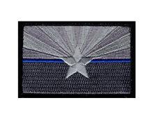 Arizona State Flag Thin Blue Line Police Hook Fastener Patch (3.0 x 2.0 AZ8)