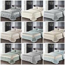 Luxury Jacquard Floral Embellished Comforter Bedspread and Pillowsham(s) Set
