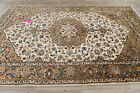 Breathtaking One-of-a-Kind Vintage Floral IVORY Najafabad Area Rug Hand-made 7x9