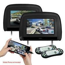 "XTRONS 2pcs 9"" Car Digital Screen Headrest DVD CD Player Monitor HDMI IR FM GAME"