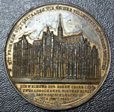 1842 COLOGNE CATHEDRAL MEDAL - GERMAN - Highly Detailed - RARE