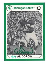 AL DOROW AUTOGRAPH FOOTBALL CARD SIGNED MICHIGAN STATE SPARTANS