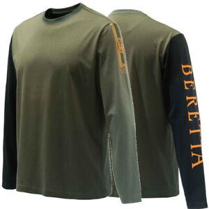 Beretta Victory Corporate Long Sleeve Tee Shirt Green TS352 Size Large