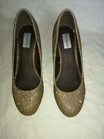 chaussures femme soirée dorées paillettes 38