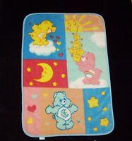 Care Bears Bedtime Cheer Sunshine Bear Baby Blanket Thick Plush 43 x 31 Toddler