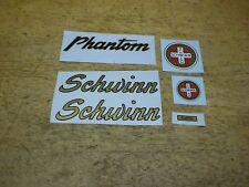 Mint Complete Schwinn Green or Red Phantom Bicycle Decal Set