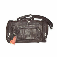 NWT OUTBACK JAY LENO SHOW Brown Leather Convertible Duffel Bag Backpack