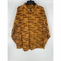 Woolrich men's 2XL Buckskin southwest fish flannel long sleeve button down shirt