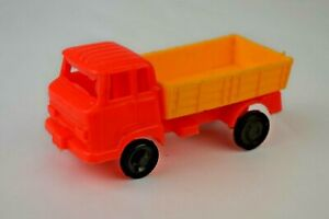 """Plastic Cab-Over Stake Truck 3"""" Long Unmarked Replaced Front Wheels Excellent"""
