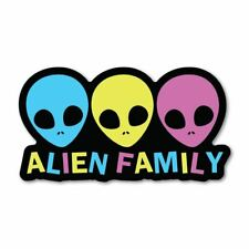 Alien Family Sticker Decal Ufo Area 51 Space Laptop Funny Et