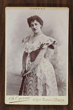Lucile Chassaing Actrice Théâtre Cabinet card Photo Ogerau Paris