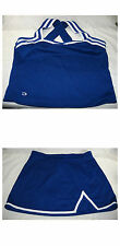 Blue Cheerleader Uniform Sleeveless Cheerleading Top and Skirt Size 2X GTM Cheer