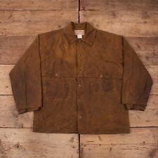 "Mens Vintage CC Filson Double Logger Waxed Tin Cloth Jacket USA XL 46"" R15458"