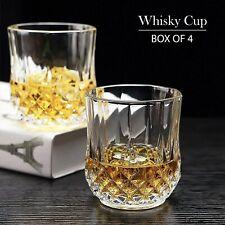 Whiskey Glasses Premium Crystal Style Spirit Rocks Glass set - Lead Free...