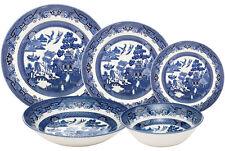 CHURCHILL BLUE WILLOW 30 PIECE DINNER SET - NEW/UNUSED