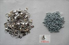 Lot of 24, One-Hole Triangle D-Ring Frame Picture Mirror Hangers with 24 Screws