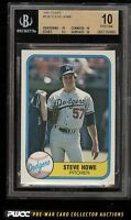 1981 Fleer Steve Howe ROOKIE RC #136 PRISTINE  -   POP 2   -   BGS 10