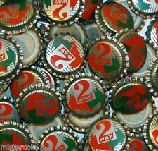 Soda pop bottle caps Lot of 25 plastic lined 2 WAY unused and new old stock