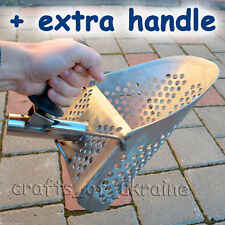 Best Beach Sand Scoop Metal Detecting Tool 1.5mm Stainless Steel + Short Handle