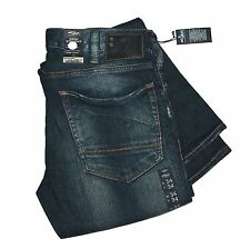 New $98 SILVER JEANS Tall Mens W36x35L Slim-Straight Jean Distressed Denim Pants