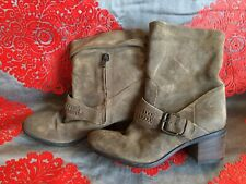Clarks Brown Suede Ankle Boots Zip Size 5