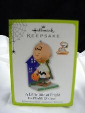 Hallmark Keepsake Ornament 2011 Halloween Peanuts Gang Charlie Little Bite NIB