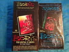 Boris Series 1 and 2 Trading Cards Boxes - Factory sealed - Comic Images