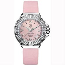 AUTHENTIC TAG HEUER WOMEN'S FORMULA 1  WAC1216.FC6220 PINK PEARL DIAMOND WATCH