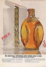 1965 Pinch Scotch Whisky Vintage Bottle PRINT AD