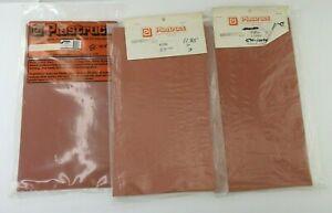 3 Vintage Packs of Plastruct Styrene Marked Paving