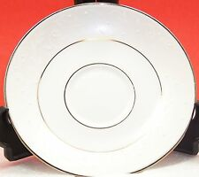 "Lenox ""Opal Innocence one 6"" saucer & 6 1/2"" pie plate, textured with silver"