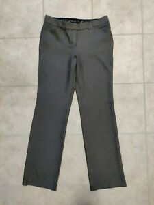 Express Editor women's 6R pants brown heather straight mid rise zip up pockets
