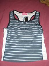 BNWT Structure size 10 blue/white striped sports singlet in EC