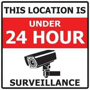 Pack of 4 CCTV in operation sticker sign - Warning Security Decal  Weatherproof