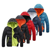 Men's Winter Warm Duck Down Jacket Ski Thicken Hooded Puffer Warm Outwear Coat