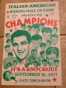 Mint 1977 Original Rocky Marciano, Other Italian Champions Vintage Boxing Poster