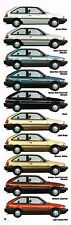1988 Mercury TRACER Brochure / Catalog with Color Chart : HATCHBACK, WAGON