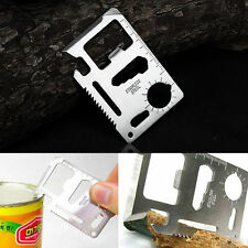 11in1 Multi-Functions Outdoor Survival Camping Military Tool Credit Card Knife