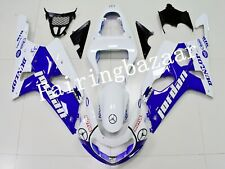 Fit for GSXR1000 2000-2002 Jordan White Blue ABS Injection Bodywork Fairing Kit