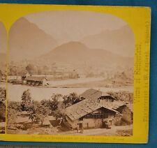 1860s Suisse Stereoview 79 Interlaken & Jungfrau Alpine Club William England
