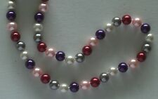 10MM Multicolor #91 AAA South Sea Shell Pearl Necklace NEW (silk gift bag)