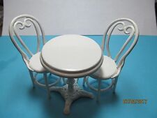 DOLLHOUSE ONE INCH SCALE  SODA SHOP TABLE & CHAIRS SET