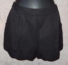 KAITLYN Black Scalloped Hem Dress Shorts S 2 4 6 Summer Sexy Short
