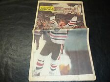 1985 Stanley Cup Finals Newspaper Journal  Edmonton Oilers vs Phiadelphia Flyers
