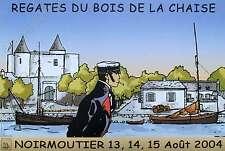 Affiche Pratt Hugo Corto Maltese Régates du Bois de la Chaise 40x60 cm