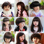 Baby Girl Boy Wig hair Toddler Child Costume Brown Straight Curly Adjustment