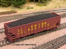 Hay Brothers HIGH PROFILE FLOOD LOADED COAL LOAD - fits MT 100T Hopper Cars