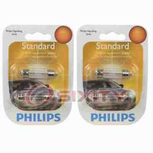 2 pc Philips License Plate Light Bulbs for Saturn LW1 LW2 LW200 LW300 pe
